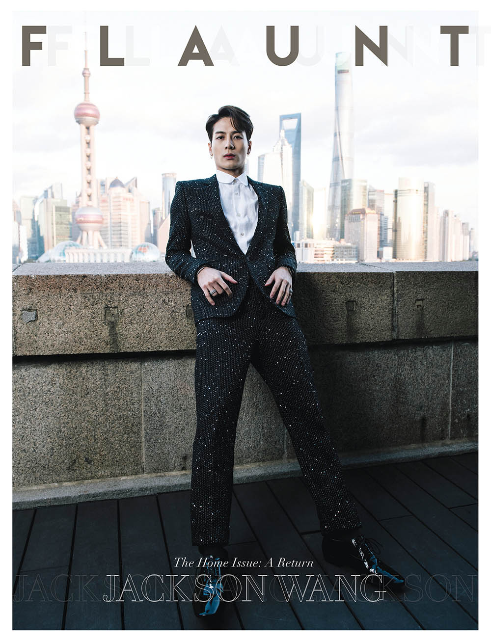 Jackson Wang covers Flaunt Magazine Issue 168 by Ian Morrison