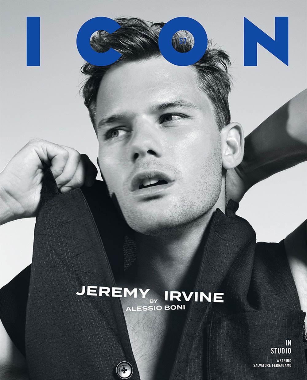 Jeremy Irvine covers Icon Italia January 2020 by Alessio Boni