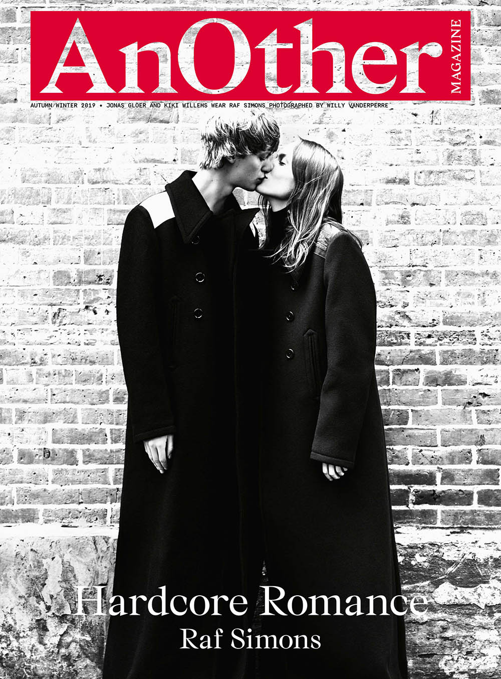 Jonas Glöer and Kiki Willems cover AnOther Magazine Fall Winter 2019 by Willy Vanderperre