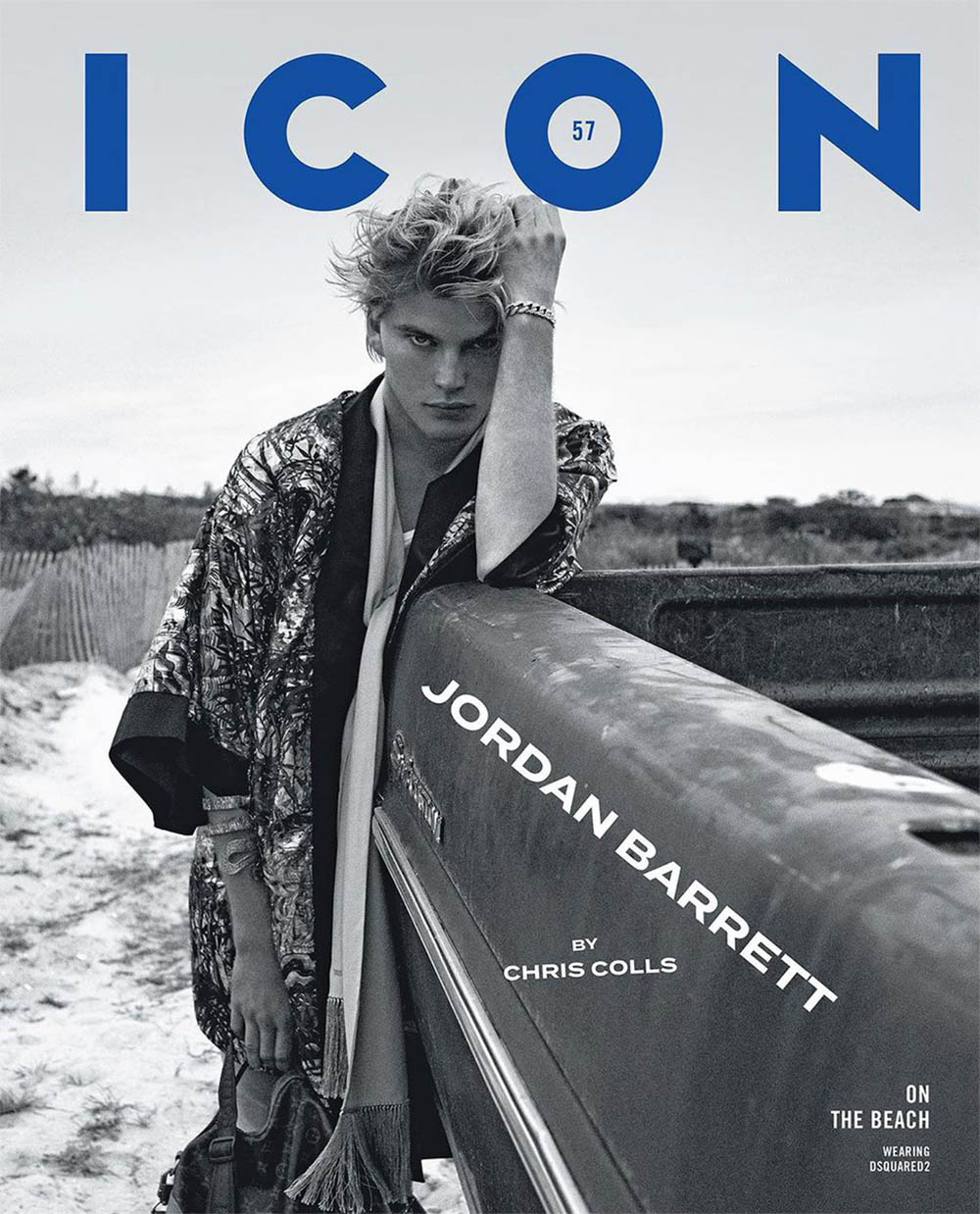 Jordan Barrett covers Icon Italia January 2020 by Chris Colls