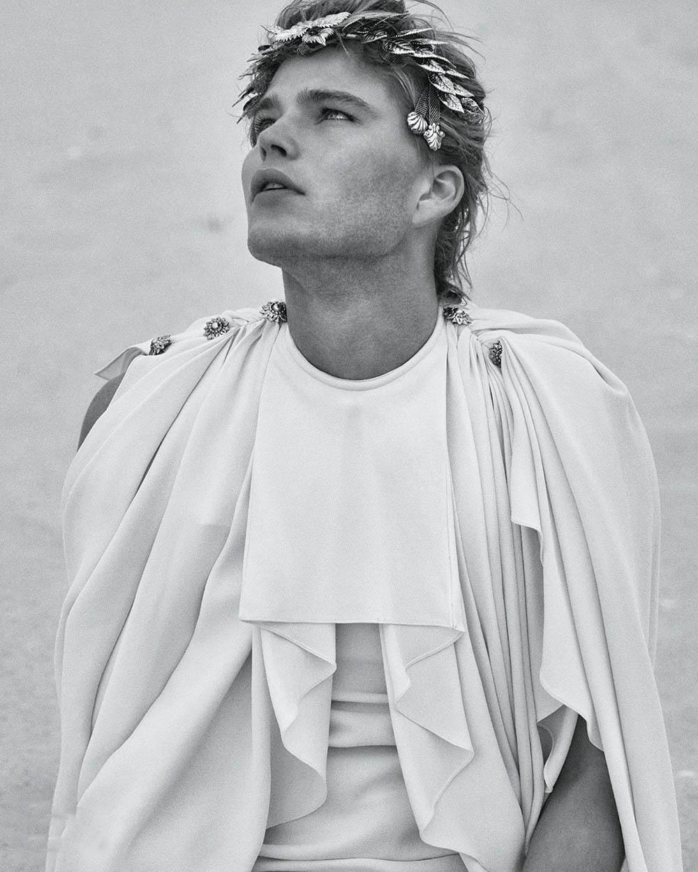 Jordan Barrett covers Icon Italia January 2020 by Chris Colls