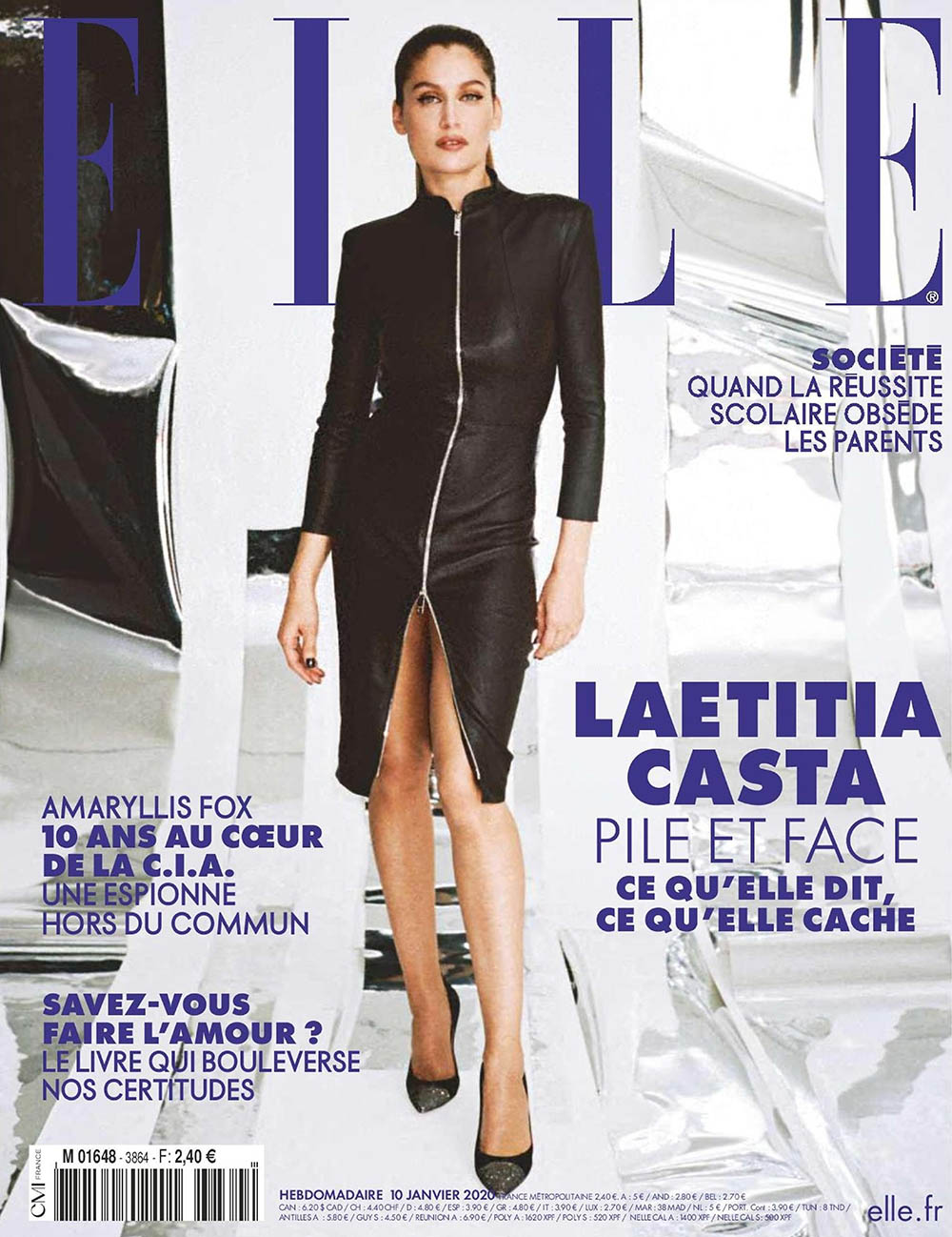 Laetitia Casta covers Elle France January 10th, 2020 by Pierre-Ange Carlotti
