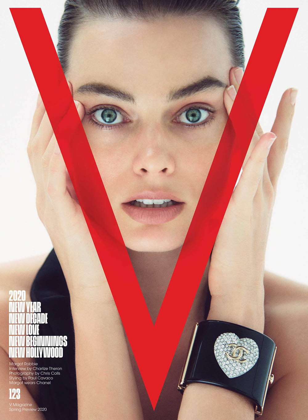 Margot Robbie covers V Magazine Spring 2020 by Chris Colls