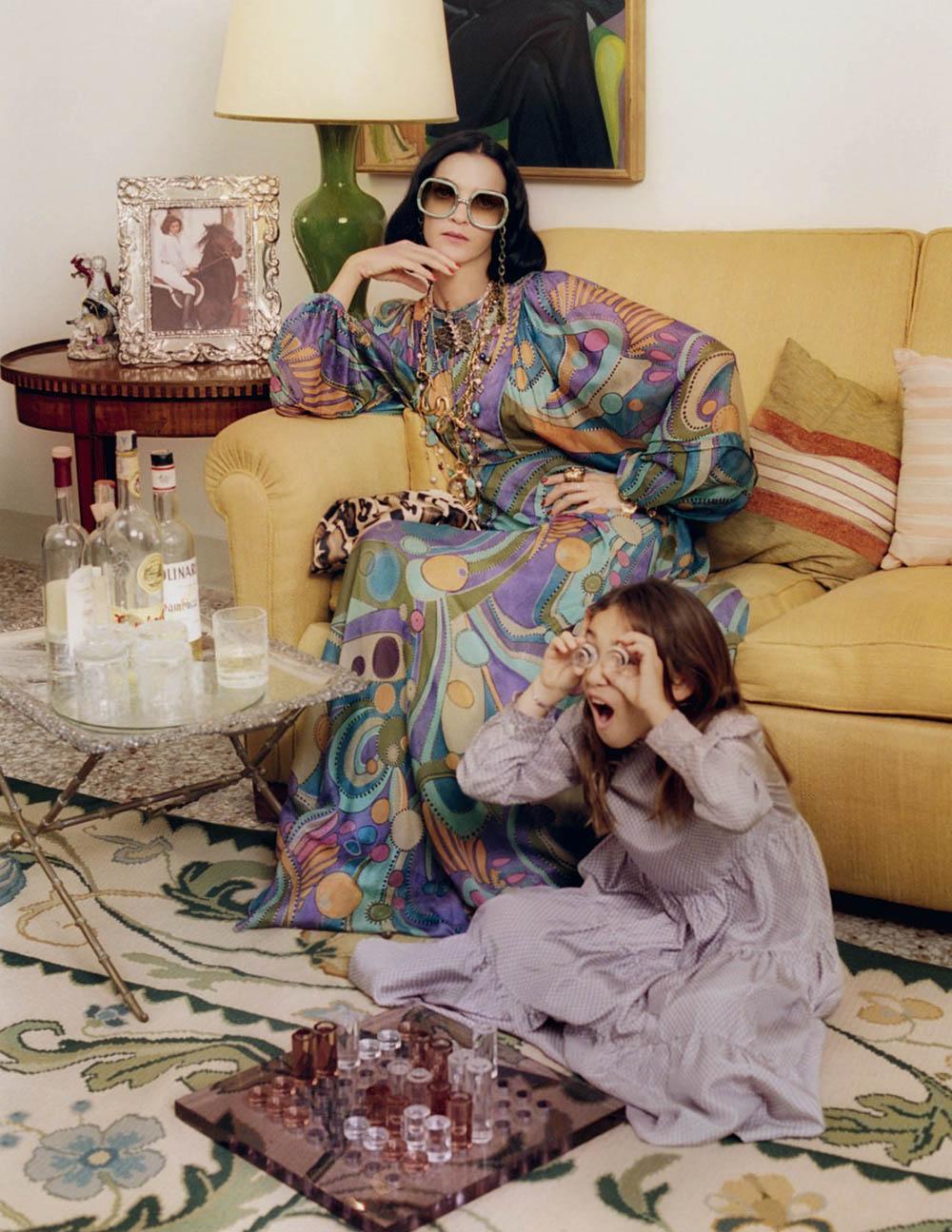 Mariacarla Boscono by Venetia Scott for British Vogue February 2020