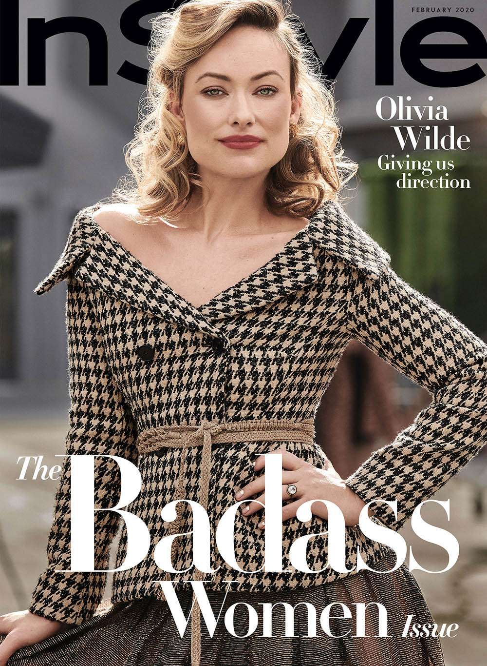 Olivia Wilde covers InStyle US February 2020 by Pamela Hanson