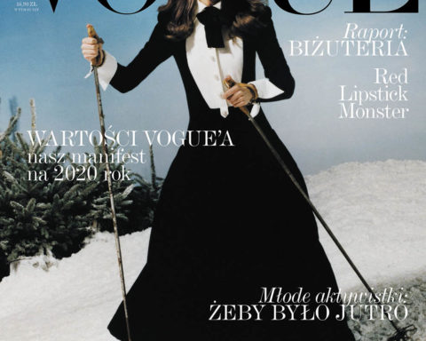 Patrycja Piekarska covers Vogue Poland January 2020 by Marcin Kempski