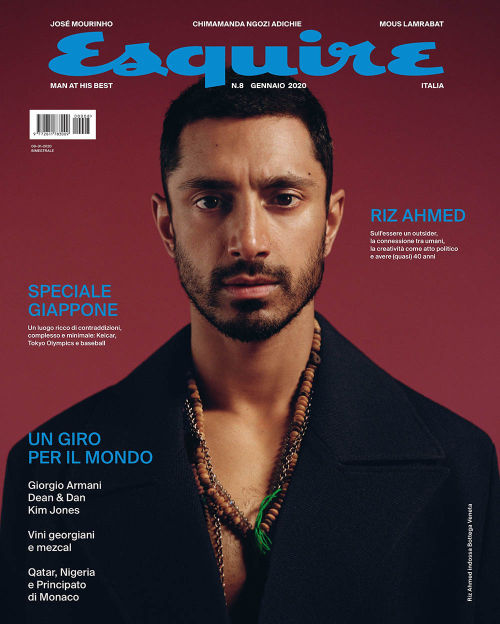 Riz Ahmed covers Esquire Italia January 2020 by Sharif Hamza