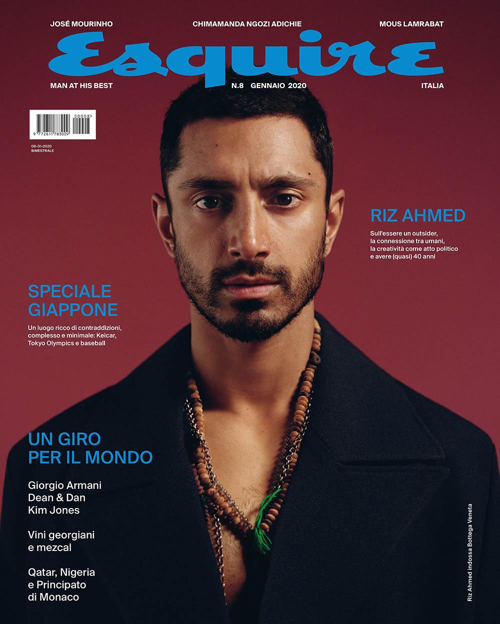 Riz Ahmed covers Esquire Italia January 2020 by Sharif Hamza