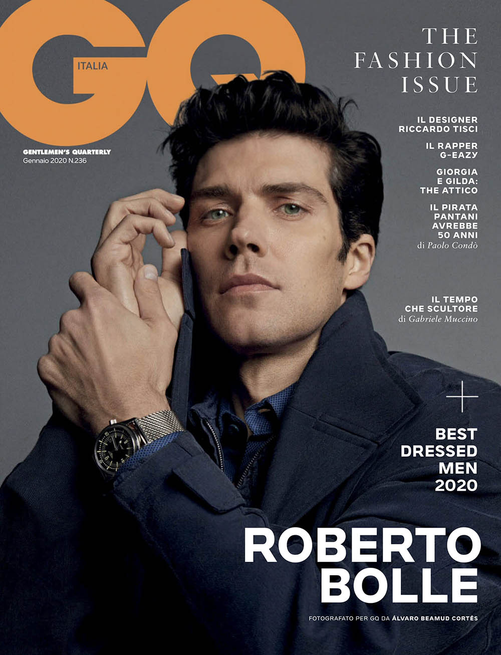 Roberto Bolle covers GQ Italia January 2020 by Alvaro Beamud