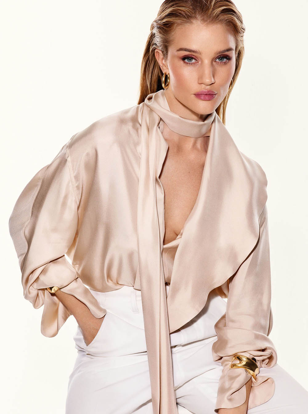 Rosie Huntington-Whiteley covers The Sunday Times Style January 19th, 2020 by David Ferrua