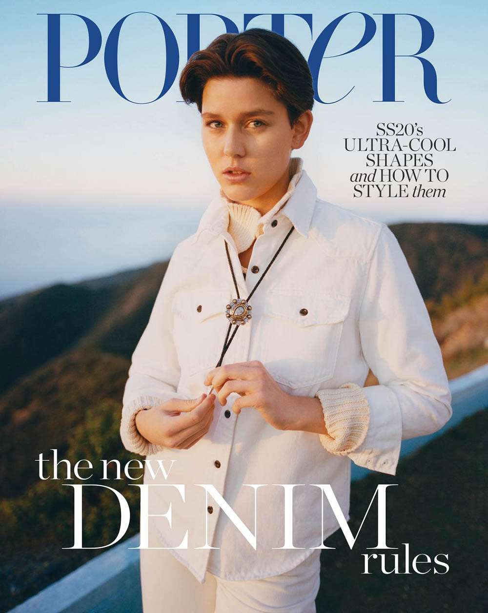 Vivienne Rohner covers Porter Magazine January 27th, 2020 by David Luraschi