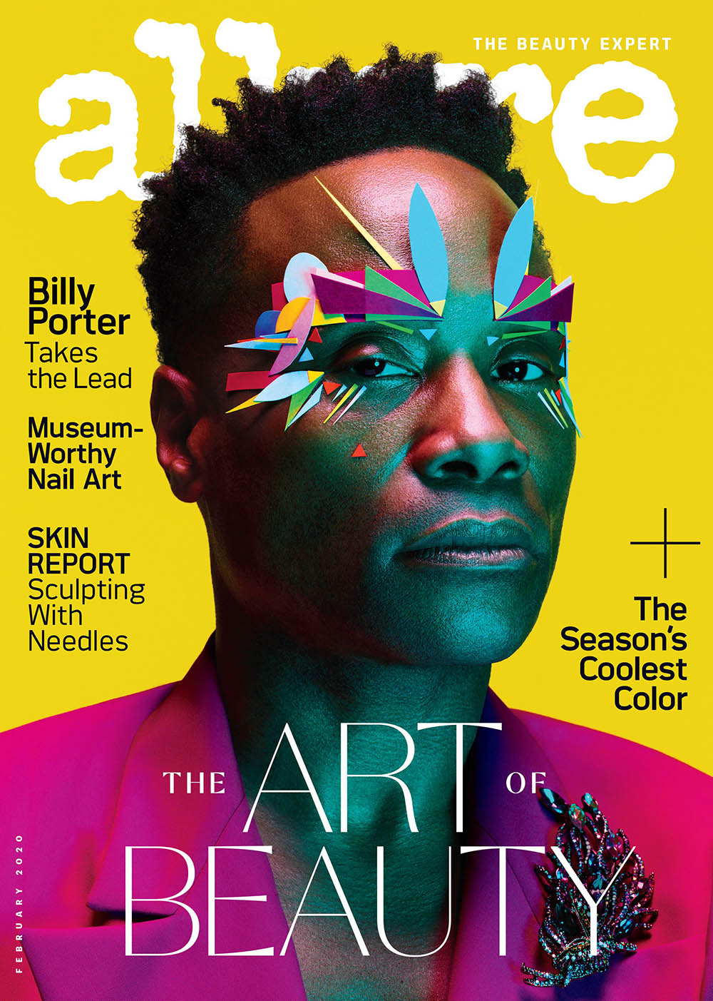 Billy Porter covers Allure US February 2020 by Ben Hassett