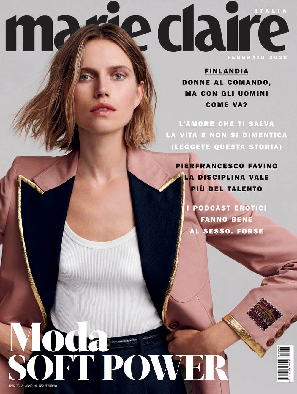 Cato van Ee covers Marie Claire Italia February 2020 by Philip Gay
