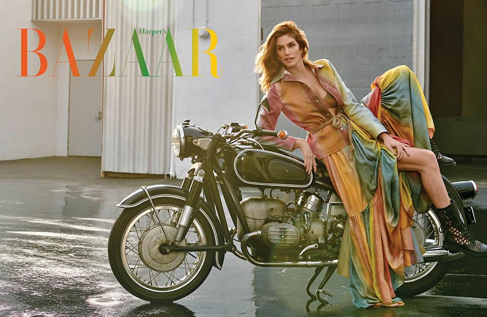 Cindy Crawford covers Harper's Bazaar Singapore February 2020 by Yu Tsai