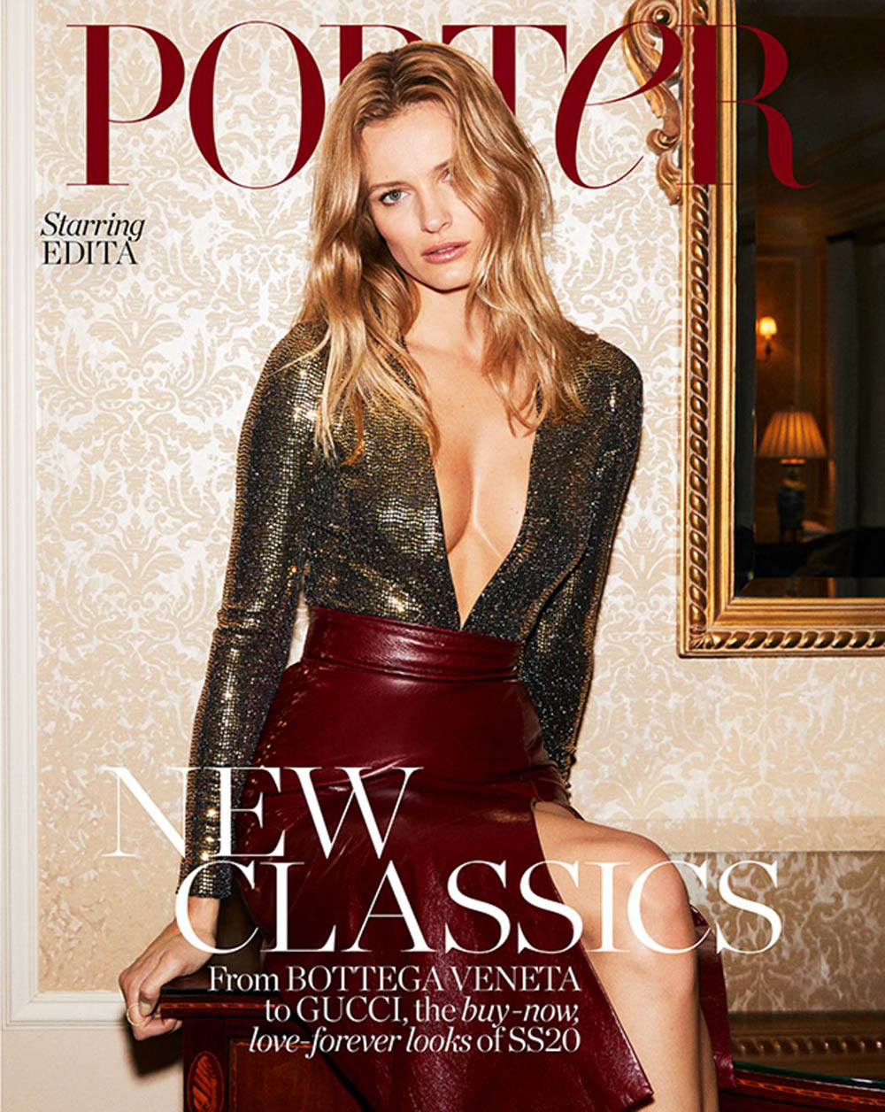 Edita Vilkeviciute covers Porter Magazine February 17th, 2020 by Carin Backoff