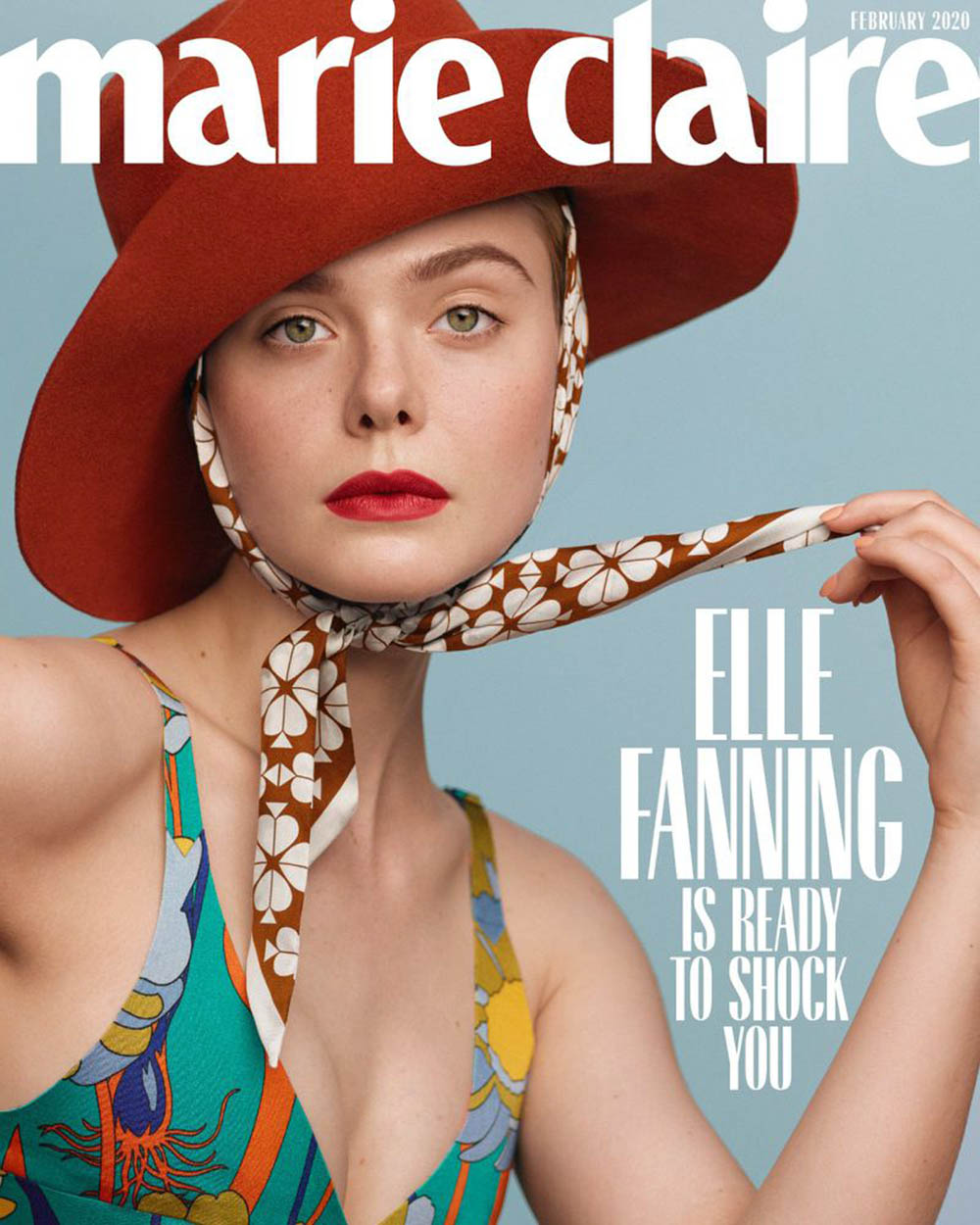 Elle Fanning covers Marie Claire US February 2020 by Thomas Whiteside