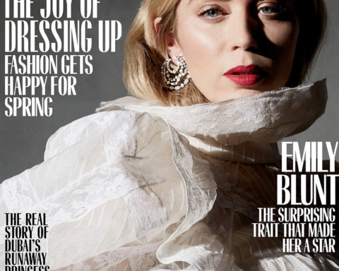Emily Blunt covers Marie Claire US March 2020 by Denise Hewitt, Lucci Mia and Genesis Gil