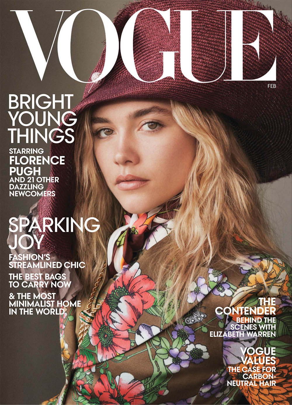 Florence Pugh covers Vogue US February 2020 by Daniel Jackson