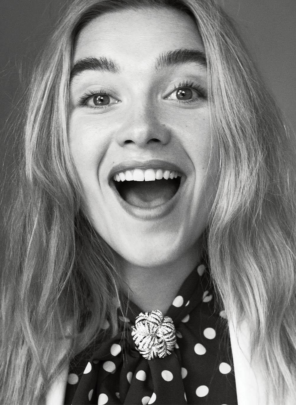 Florence Pugh covers Vogue US February 2020 by Daniel Jackson