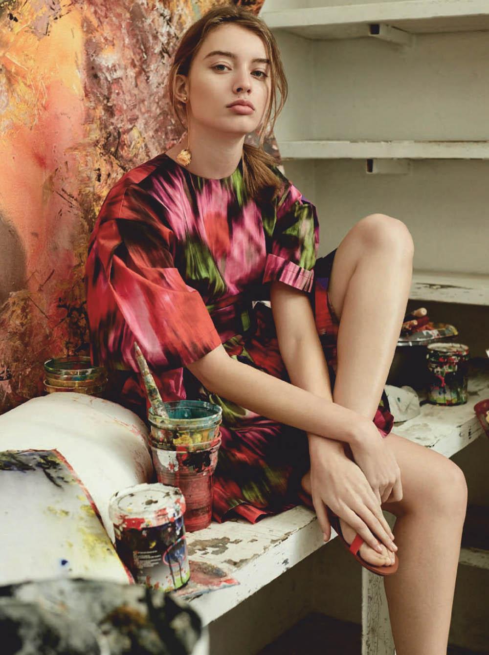 Giulia Maenza by Agata Pospieszynska for Harper's Bazaar Spain February 2020