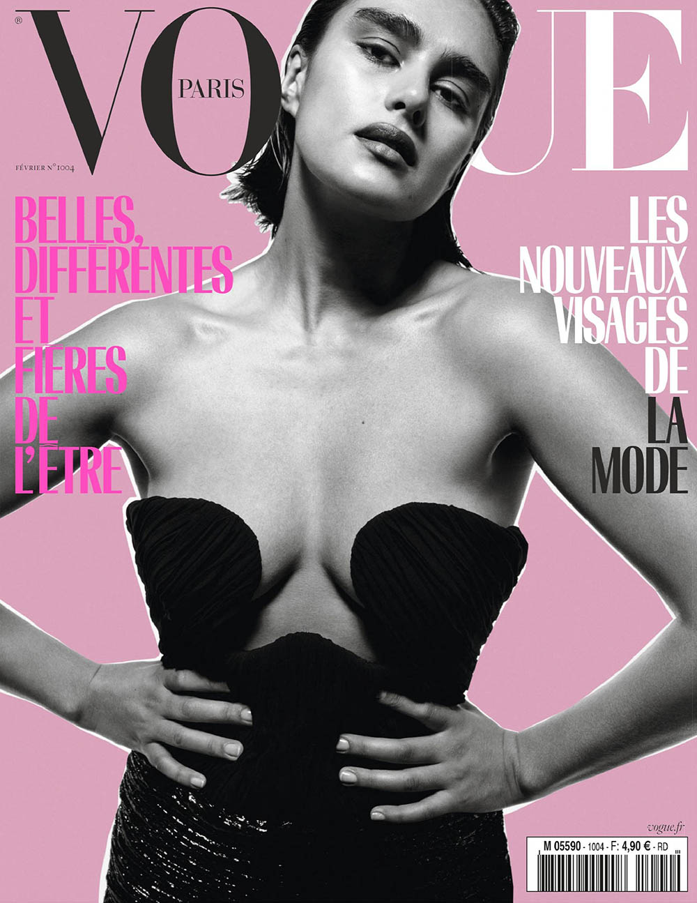 Jill Kortleve covers Vogue Paris February 2020 by Inez and Vinoodh