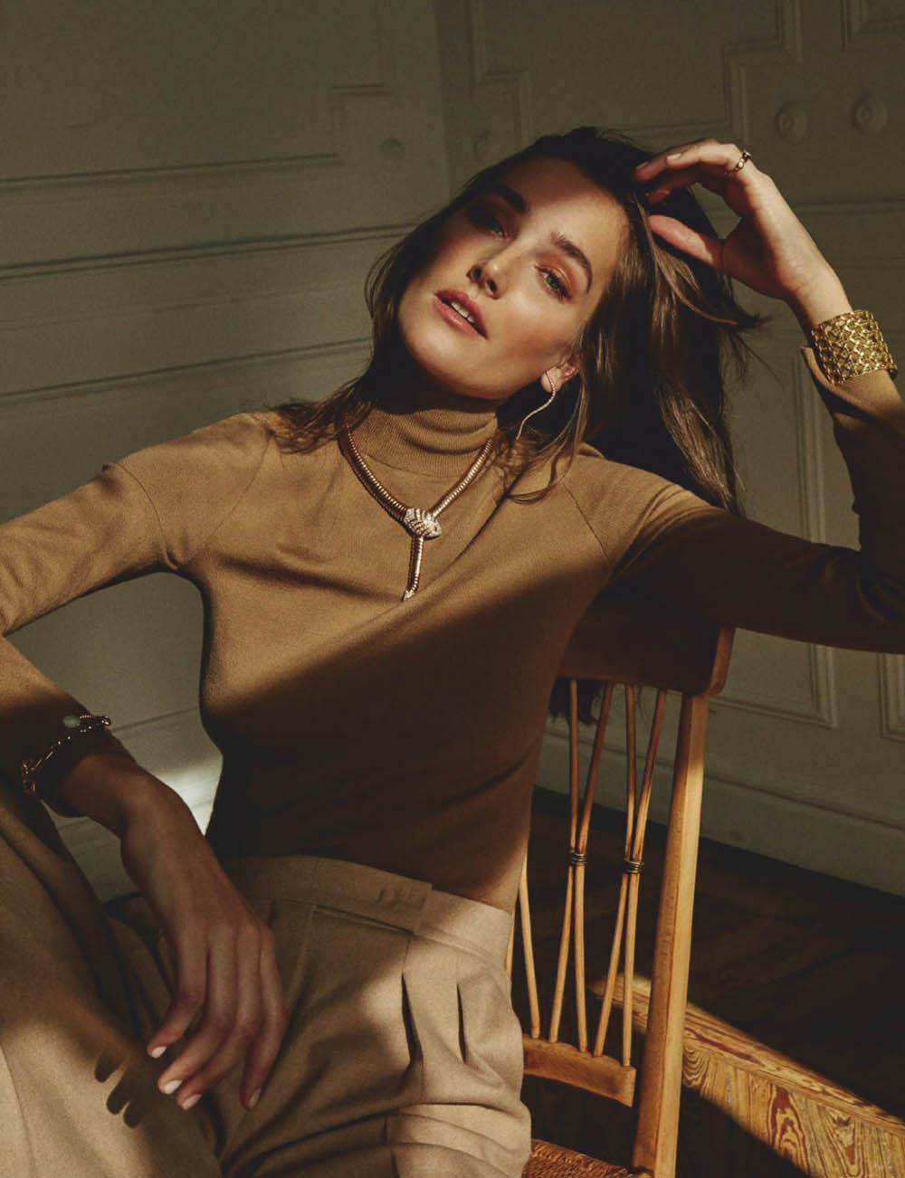 Joséphine Le Tutour covers Elle Spain February 2020 by Rafa Gallar