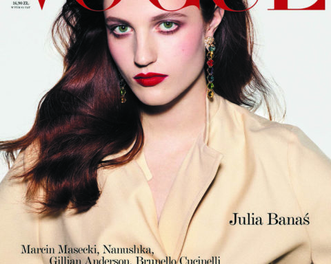 Julia Banas covers Vogue Poland February 2020 by David Ferrua