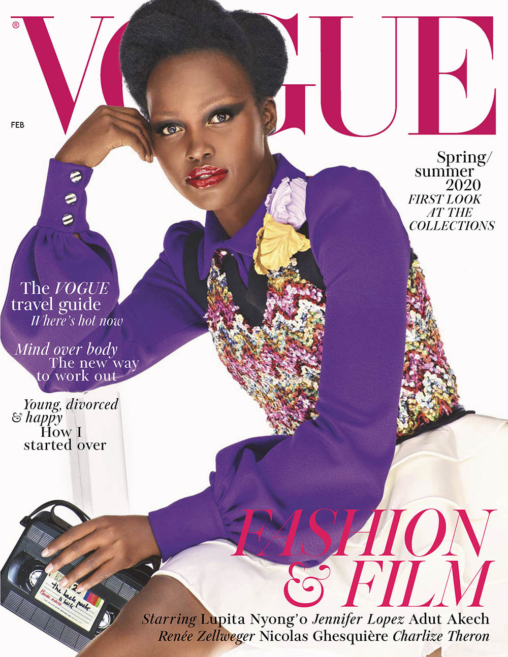 Lupita Nyong'o covers British Vogue February 2020 by Steven Meisel