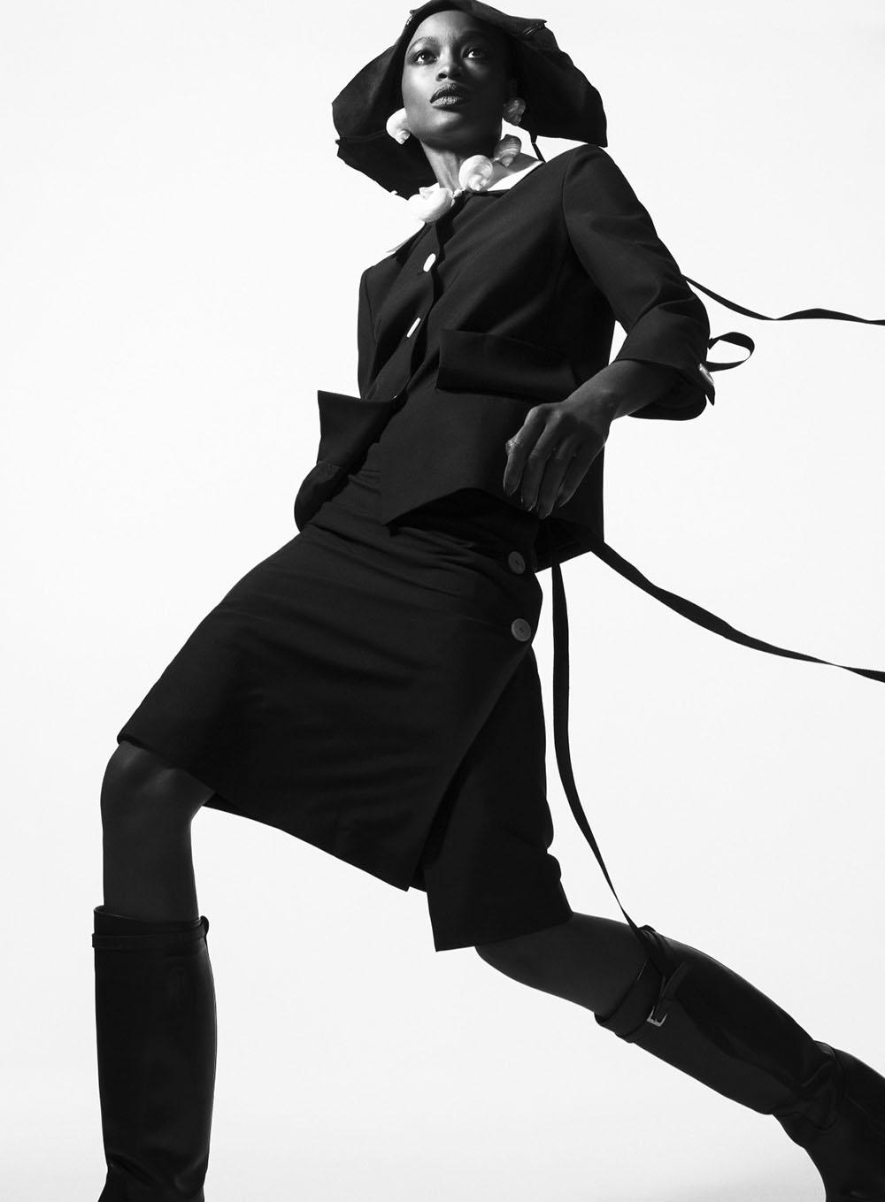Mayowa Nicholas by Sebastian Kim for Harper's Bazaar US February 2020