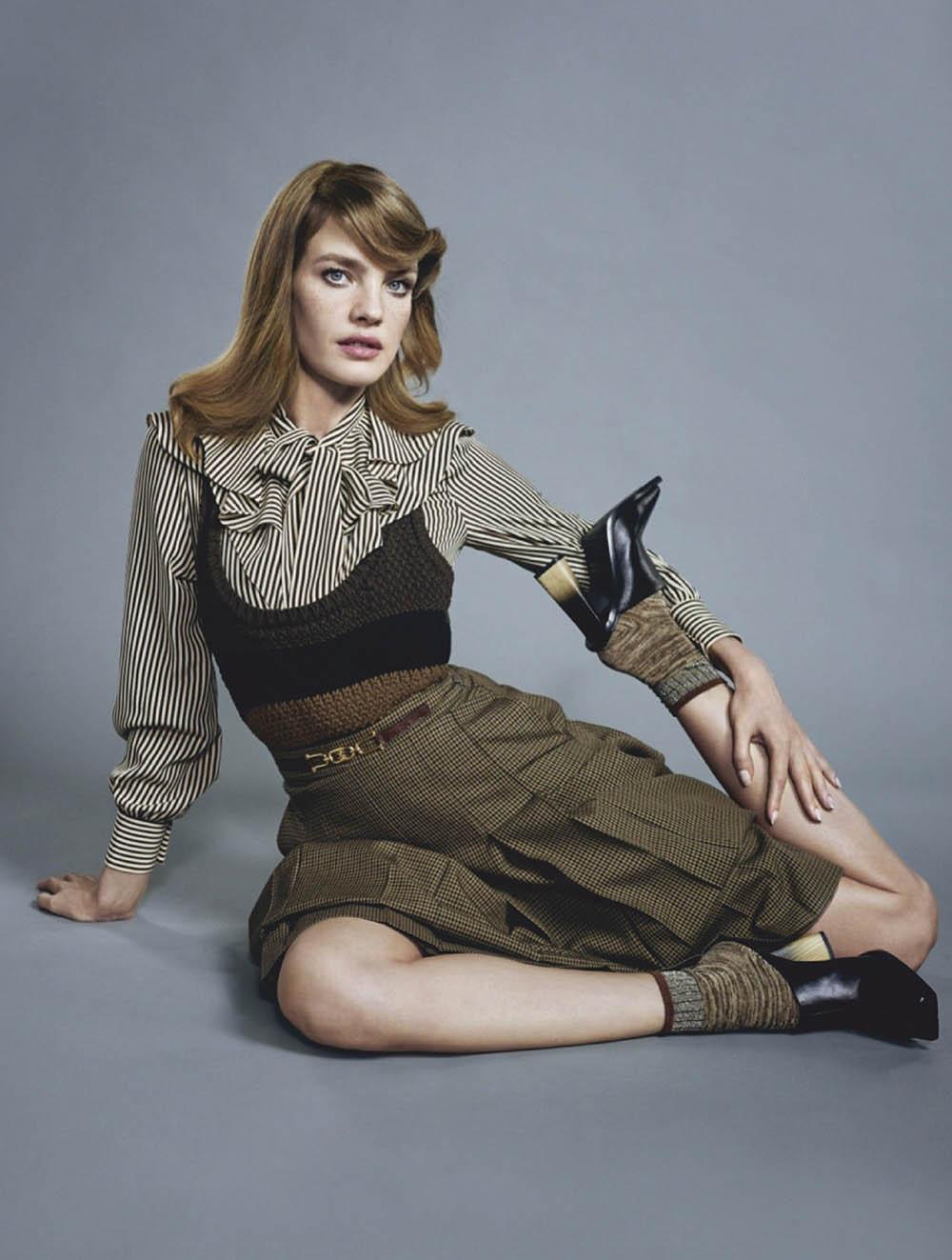 Natalia Vodianova covers Elle Russia February 2020 by Mathieu Cesar