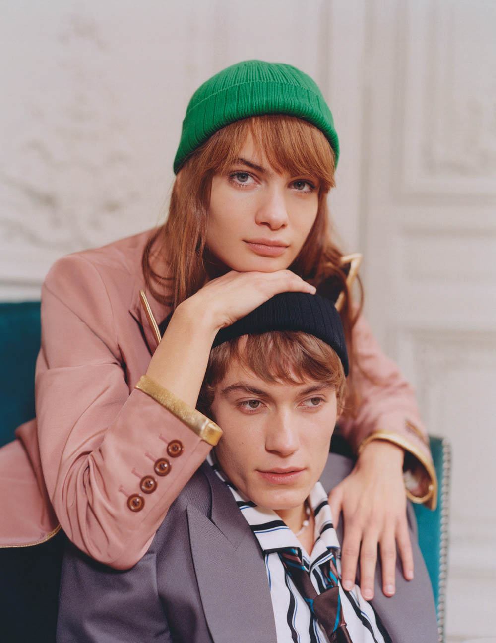 Nina Marker and Anton Thiemke by Ben Parks for Vogue Russia February 2020