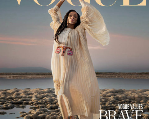 Winnie Harlow covers Vogue Greece February 2020 by Vasilis Kekatos