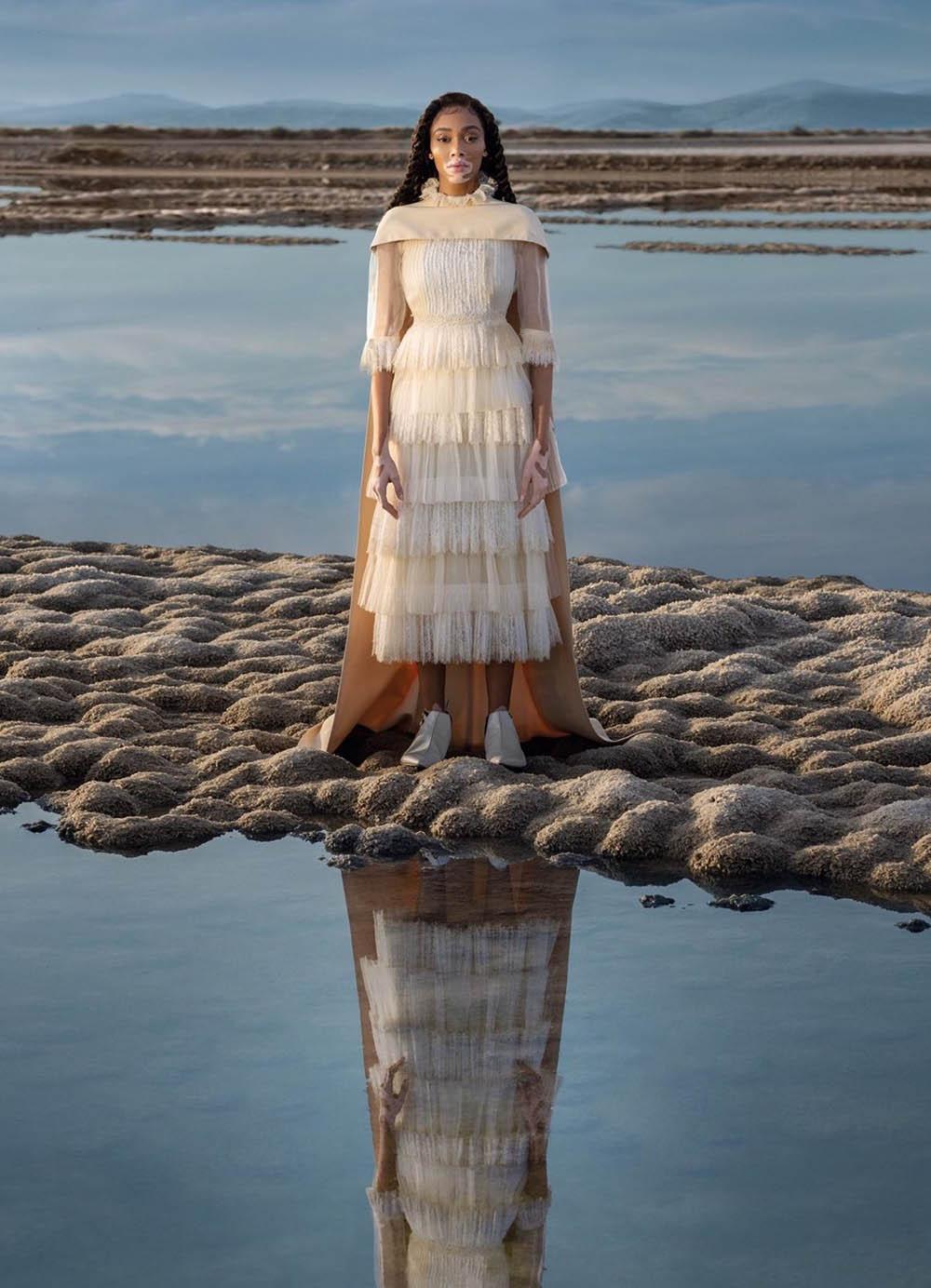 Winnie Harlow covers Vogue Greece February 2020 by Vasilis Kekatos