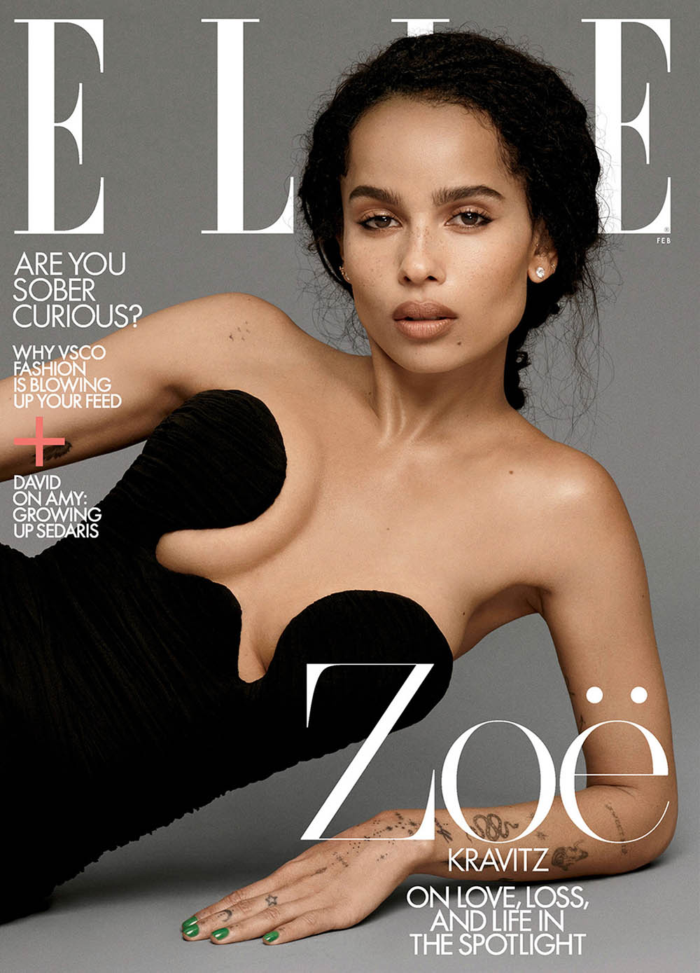 Zoë Kravitz covers Elle US February 2020 by Paola Kudacki