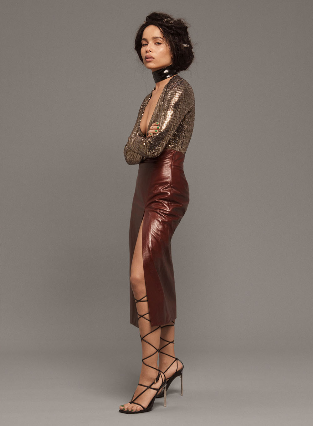 Zoë Kravitz covers Elle US February 2020 by Paola Kudacki