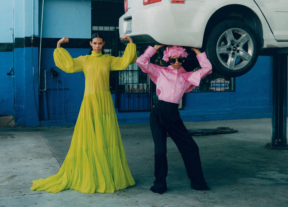 Aaliyah Hydes and Jordan Daniels by Alexander Saladrigas for Vogue Russia March 2020