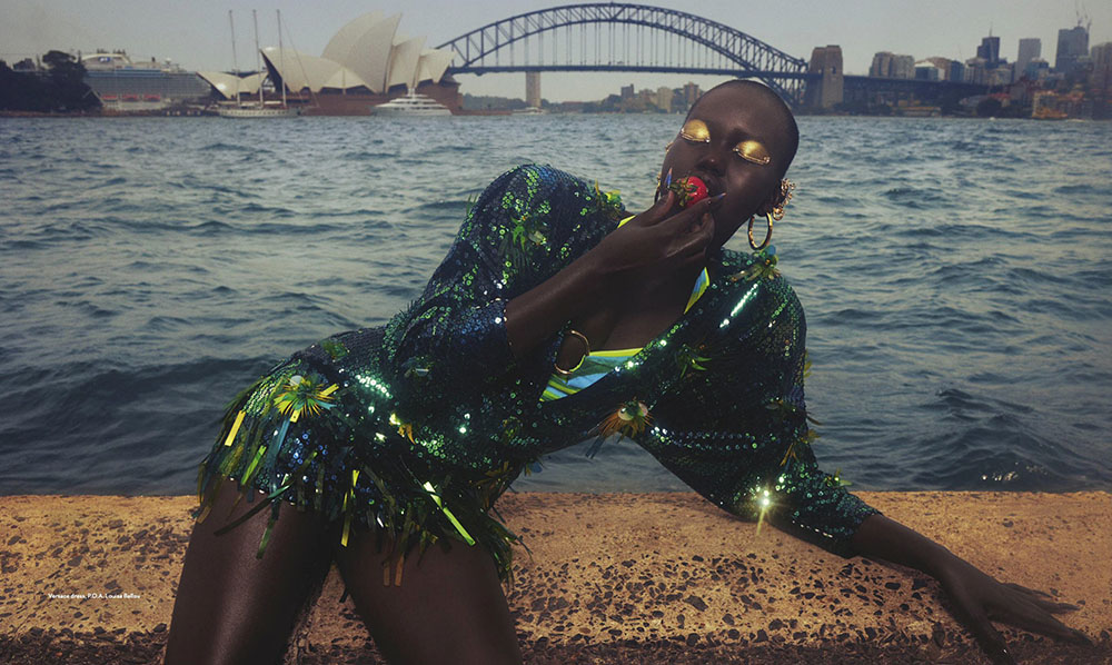 Adut Akech by Emma Summerton for Vogue Australia March 2020
