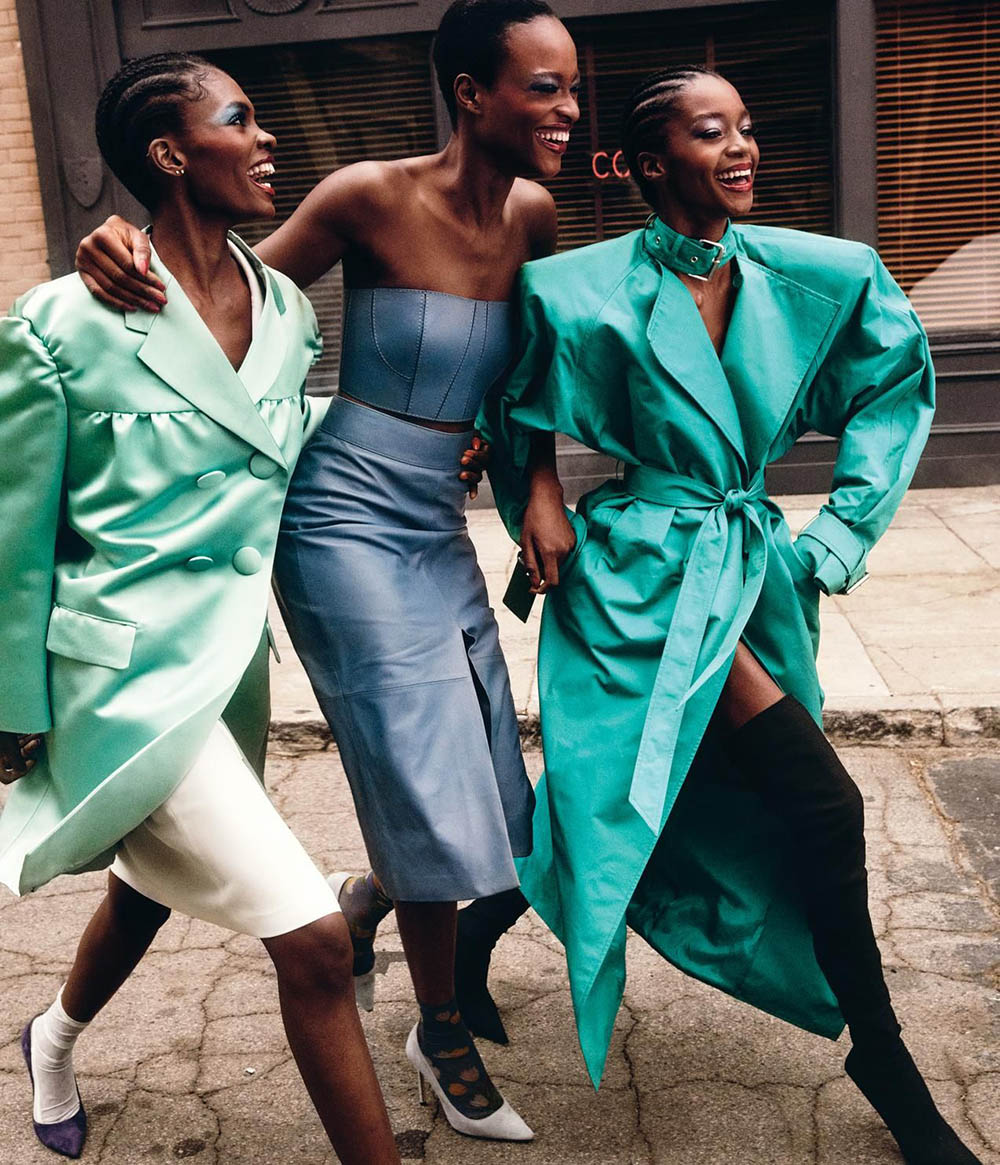 Adut Akech covers WSJ. Magazine March 2020 by Mikael Jansson
