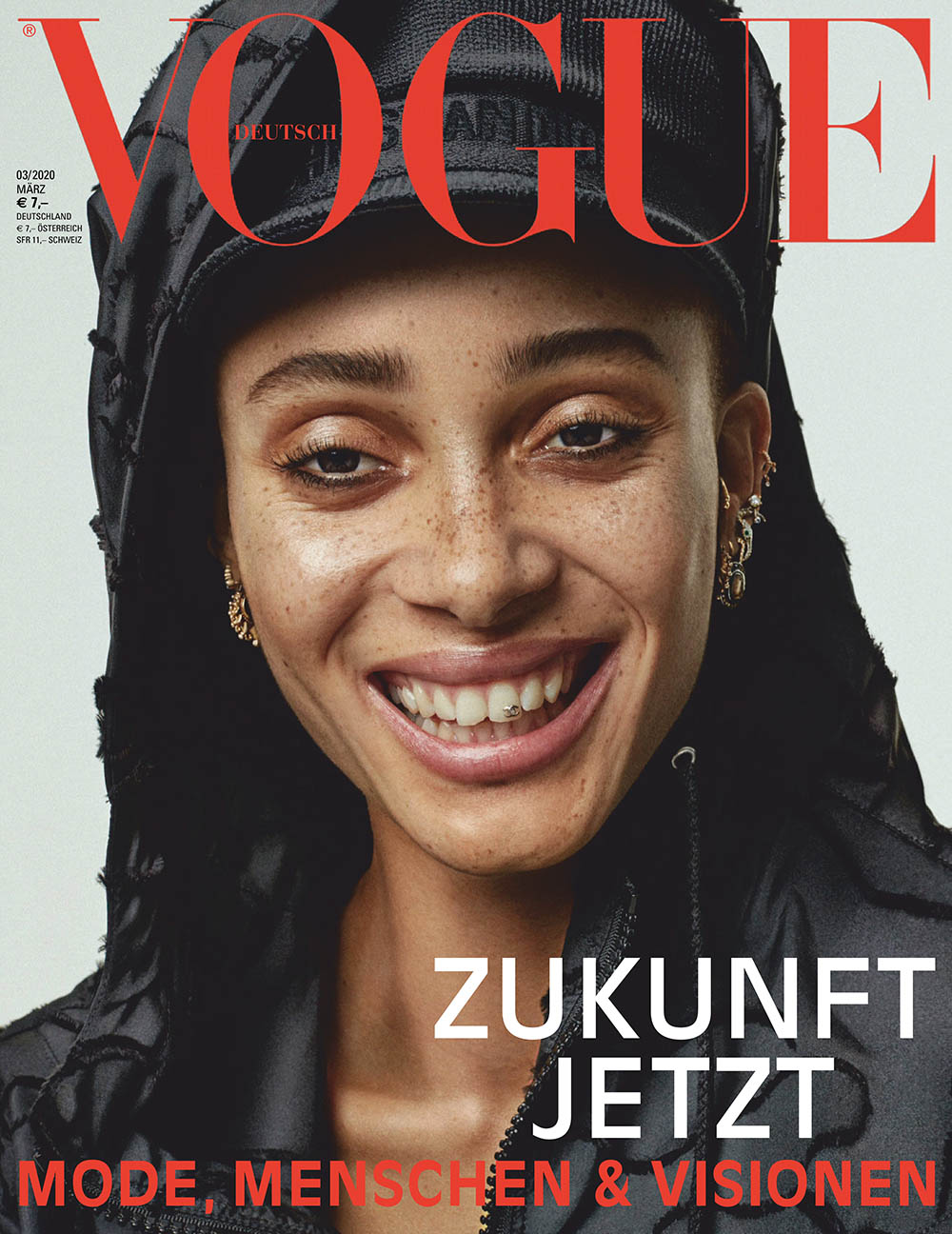 Adwoa Aboah covers Vogue Germany March 2020 by Alique