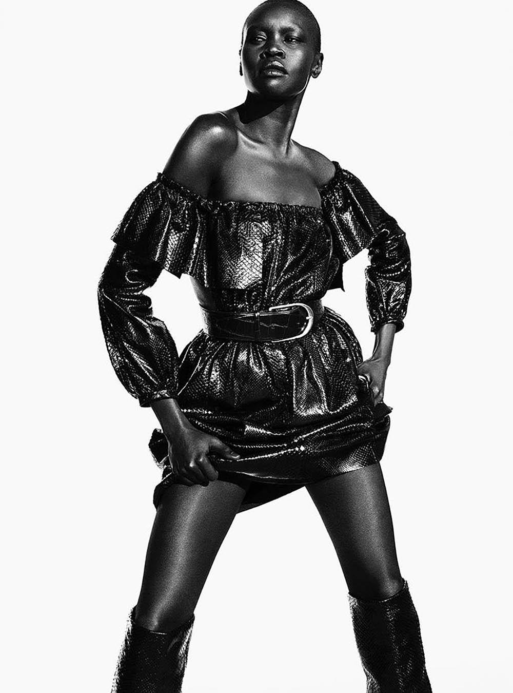 Alek Wek covers Vogue Brazil March 2020 by Luigi & Iango