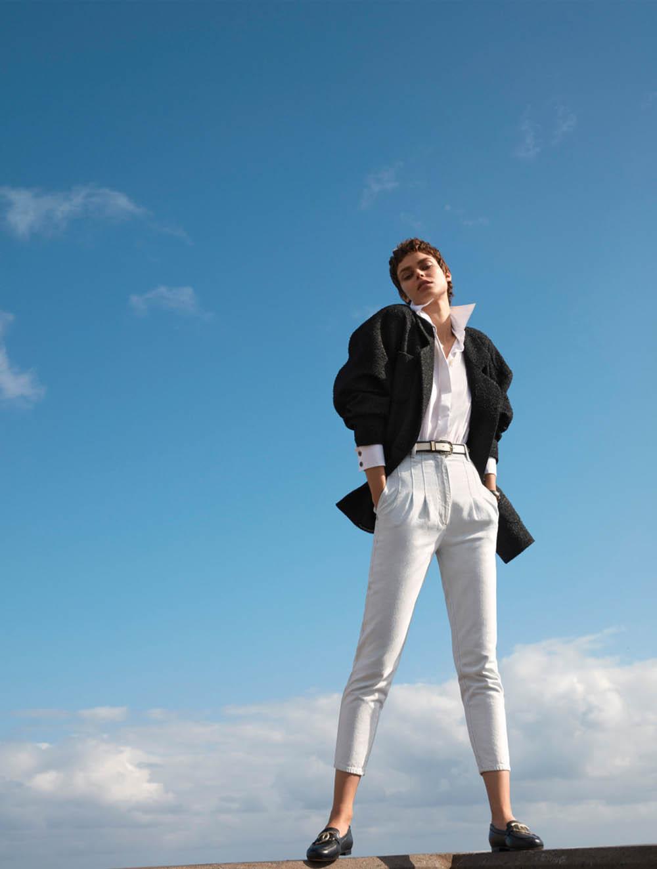 Birgit Kos by Camilla Akrans for Harper's Bazaar US March 2020