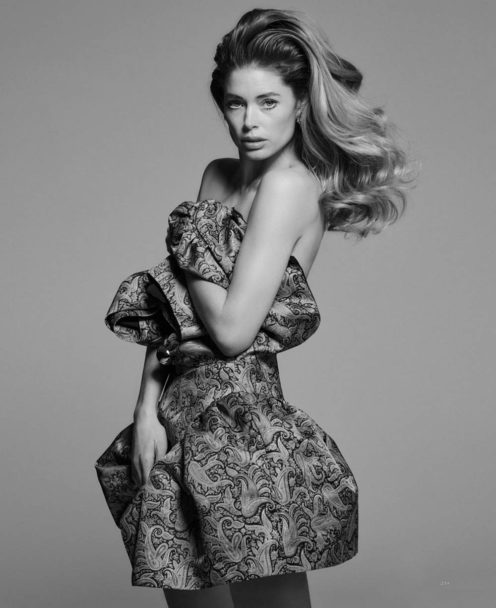 Doutzen Kroes by Chris Colls for Elle US March 2020