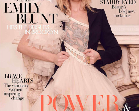 Emily Blunt covers Harper's Bazaar UK March 2020 by Pamela Hanson