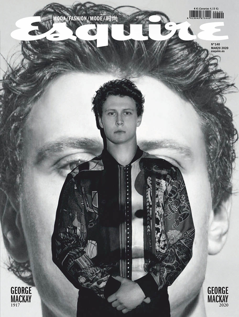 George MacKay covers Esquire Spain March 2020 by Juankr