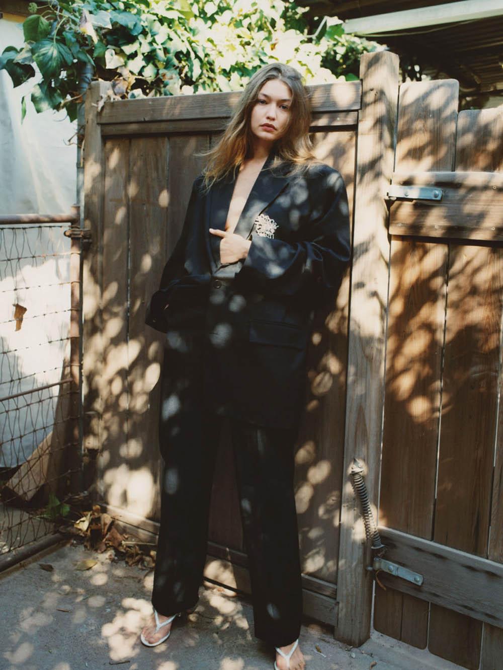 Gigi Hadid by Zoë Ghertner for British Vogue March 2020