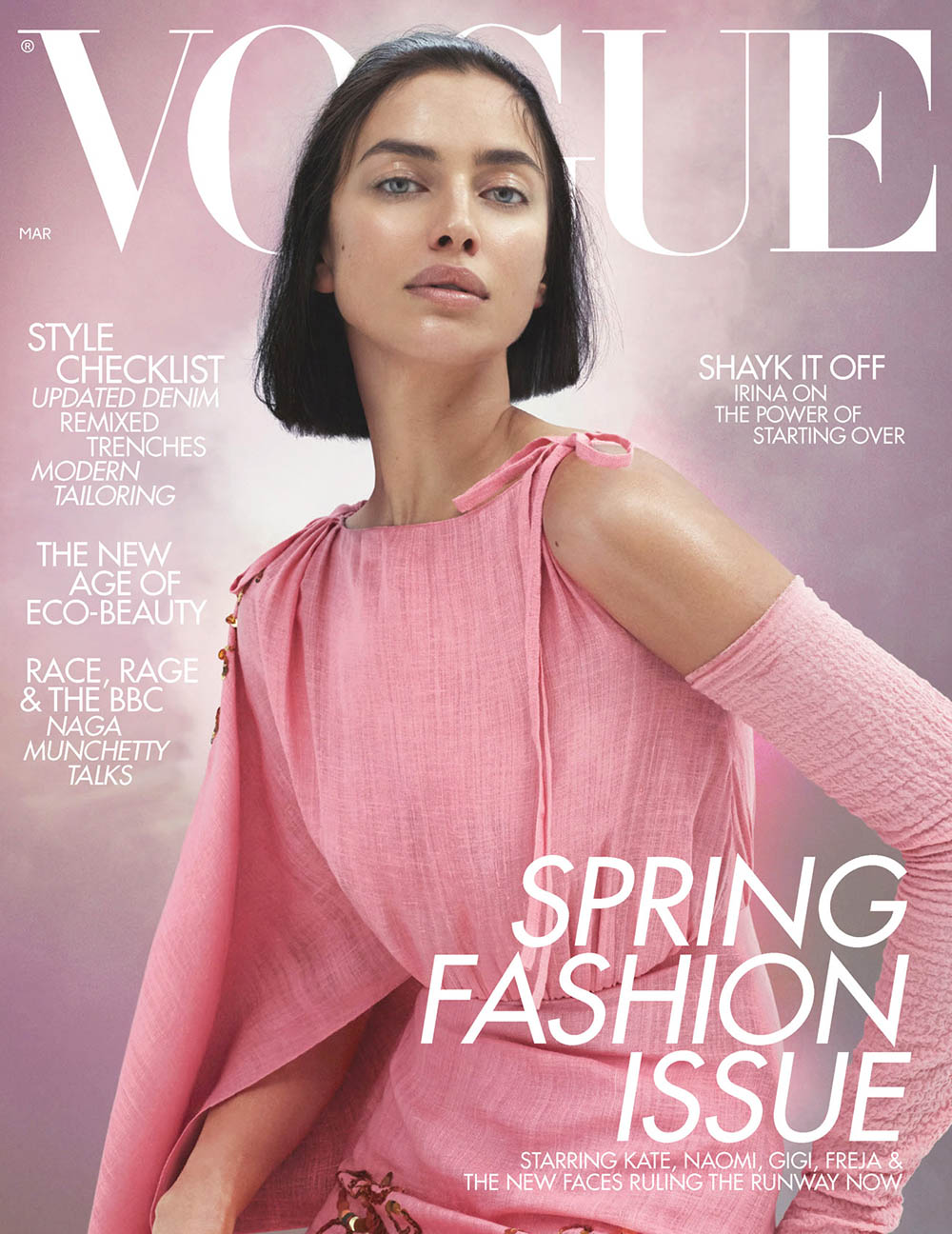 Irina Shayk covers British Vogue March 2020 by Mert & Marcus