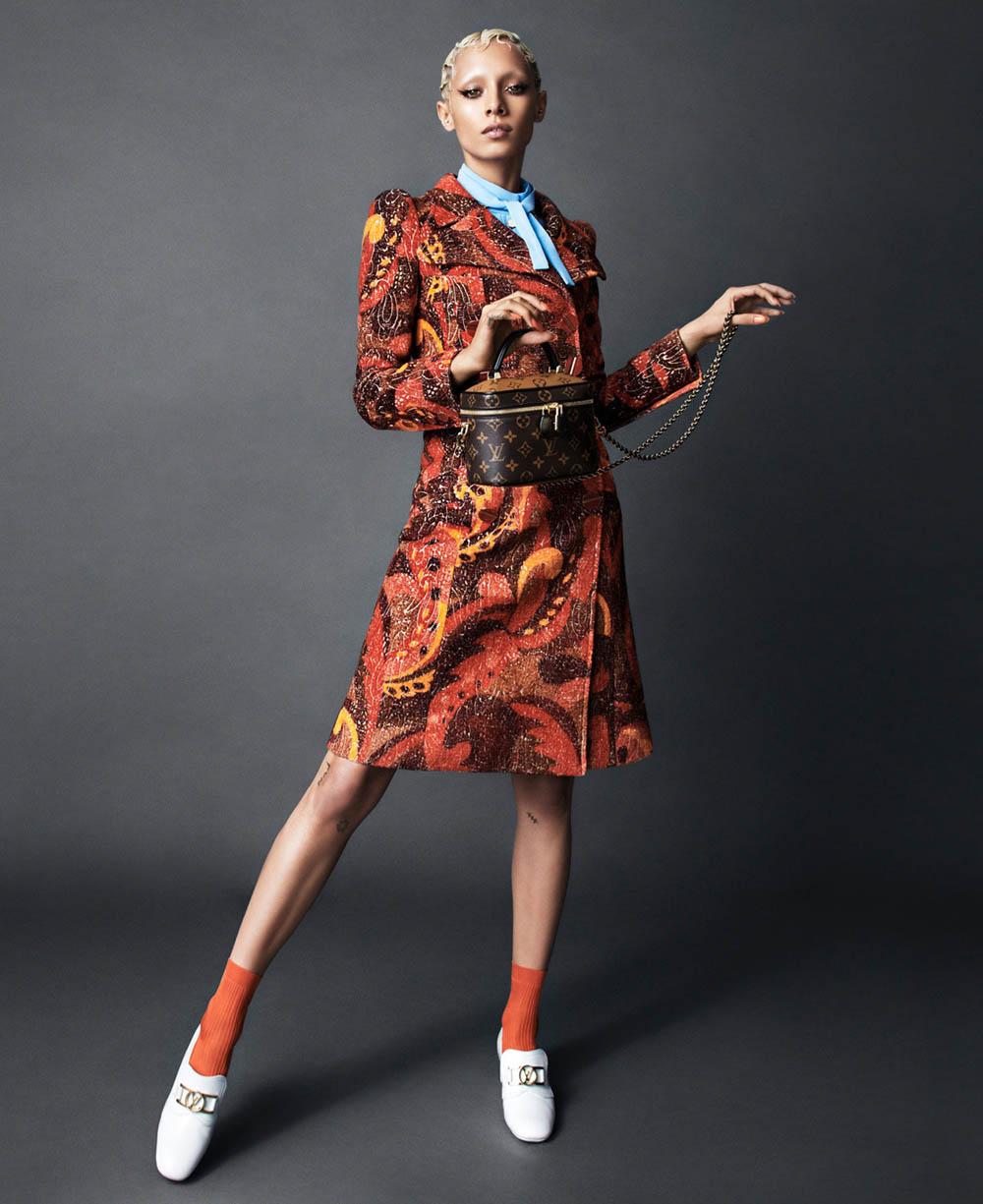 Jazzelle Zanaughtti by Desiree Mattsson for Elle US March 2020