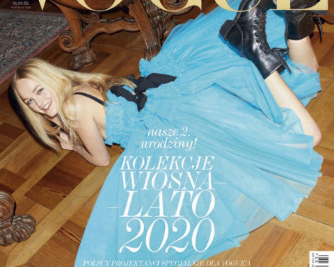 Jean Campbell covers Vogue Poland March 2020 by Maciek Kobielski