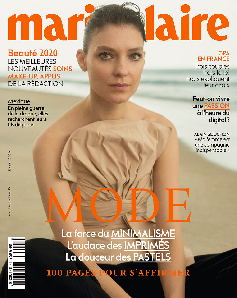 Kati Nescher covers Marie Claire France March 2020 by Toby Coulson