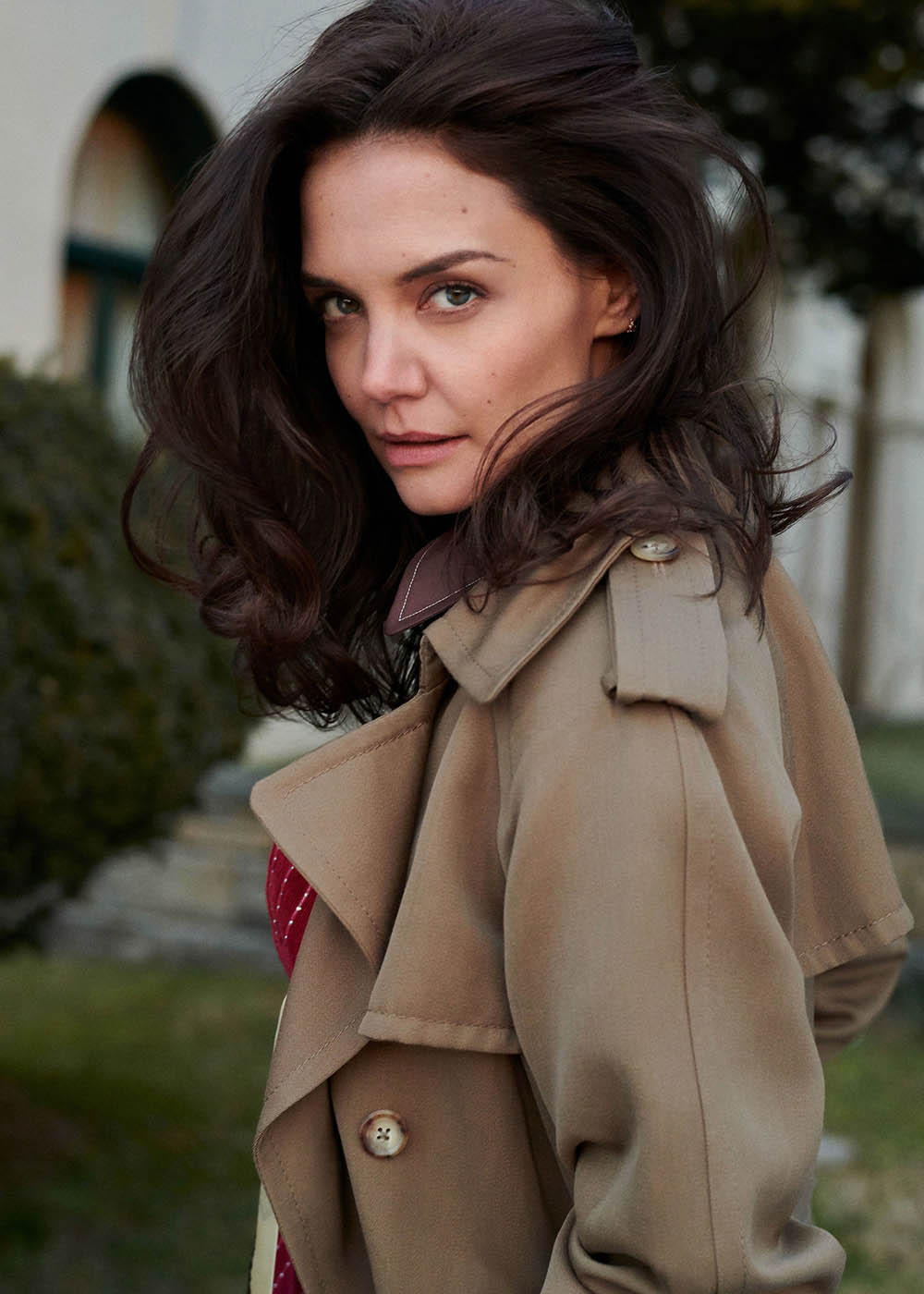 Katie Holmes covers InStyle US April 2020 by Sebastian Faena